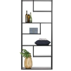 Forget floating shelves, or even sturdy brackets - the coolest way to organise your shelving this season is to hang it! This large metal shelf is ready-to-hang and adds a cool, contemporary touch to your decor in any room. Metal Shelving Units, Storage Shelves, Etagere Design, Happy New Home, Contemporary Cabinets, Regal Design, Large Shelves, Structure Metal, Living Room Storage