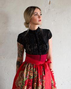 # # - t - Oktoberfest Folk Fashion, Unique Fashion, Retro Fashion, Girl Fashion, Oktoberfest Outfit, Vintage Dresses, Vintage Outfits, German Outfit, Autumn Clothes