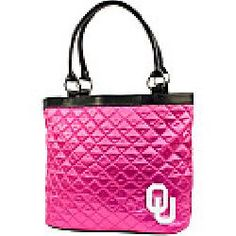 Little Earth Productions Oklahoma Sooners Pink Quilted Tote