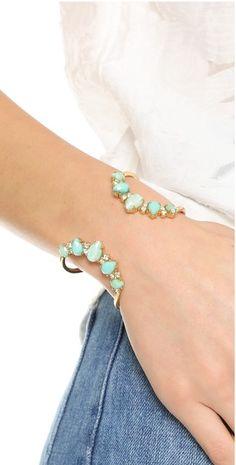 Mint & gold cuff bracelet