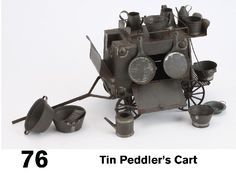 Image detail for -Tin Peddler's Cart : Lot 76 Nutcrackers, Rare Antique, Wonders Of The World, Tin, Cart, Detail, Dolls, History, Antiques