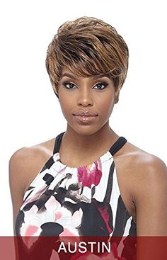AUSTIN SNOW  VANESSA FIFTH AVENUE SYNTHETIC HAIR SHORT WAVY WIG *** Learn more by visiting the image link.