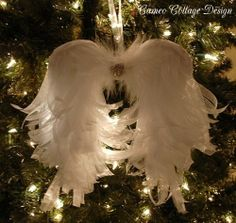 Cameo Cottage Designs: Sweet Angelic Angel Wings ~ My Newest Creation Great tutorial, these are GORGEOUS!!!