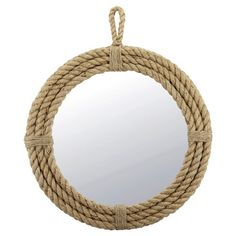 Stonebriar Collection in. W Round Rope Wrapped Mirror – The Home Depot Stonebriar Collection in. W Round Rope Wrapped Mirror at The Home Depot – Mobile Round Mirror With Rope, Rope Mirror, Circular Mirror, Round Wall Mirror, Round Mirrors, Wall Mirrors, Diy Mirror, Beach Mirror, Mirror Ideas