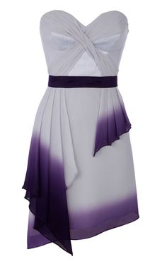 karen miller dip dye dress, wedding,  bridesmaid