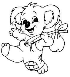 Boyama Oyunlari Koala | Boyama Yazdırılabilir