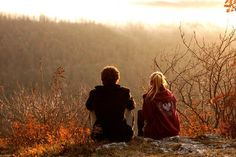 Sunset view cute couples sky sunset outdoors nature autumn