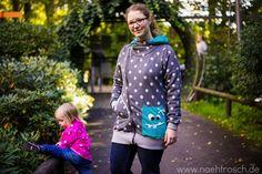 Nähfrosch AnniNanni Jacke aus Kuschelsweat Wellnessfleece Alpenfleece Sweatjacke nähen mit schrägem Reißverschluss Opel Zoo