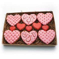 Decorated Cookies  Valentine's Day  Patterned   by katieduran, $24.00