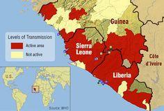 main Ebola outbreaks