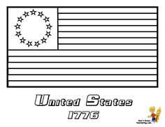American flag coloring sheet. The USA flag is a great Flag day ...