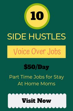 Get 10 side hustle part time online voice over jobs that gives you up to $50/day extra cash at home. As a stay at home moms, it's a great work from home job for you.  #sidehustleideas #sidehustlepassiveincome #sidehustleathome #sidehustleextracash #sidehustlewoman #sidehustleformoms #sidehustletips #sidehustlebusiness #sidehustleonline #sidehustleinspiration #sidehustle #sidehustles #parttimejob #makemoneyonline #workfromhome #workathome #passiveincome #mom #teen