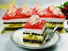 "z cukrem pudrem: ciasto ""Lolita"" (bez pieczenia) Summer Cakes, Polish Recipes, Polish Food, Pastry Cake, Food Cakes, Homemade Cakes, No Bake Desserts, Cake Cookies, Baked Goods"