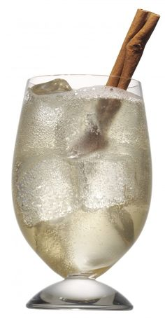 1 oz Van Gogh Vanilla Vodka 1 oz Hazelnut liqueur 1/2 oz Butterscotch Schnapps 2 oz Ginger Beer Cinnamon stick