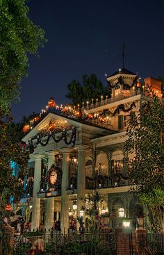 Haunted Mansion during the Holiday Season