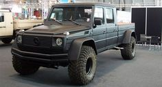 Monster Mercedes-Benz G-Wagen Pick Truck Conversion...now, that's cool!