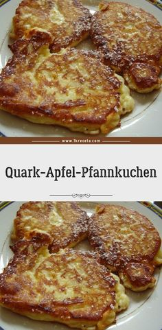 Quark Apfel Pfannkuchen - Eier und Mehlspeisen Rezepte - Quark Apfel Pfannkuchen Quark apple pancakes are so easy and yet they taste SENSATIONALLY good! They owe that to the curd, because it brings the absolute fluffiness into the cupcakes. Breakfast Recipes, Dinner Recipes, Vegan French Toast, Toast Pizza, Overnight French Toast, Cooking Dishes, Tasty, Yummy Food, French Toast Casserole
