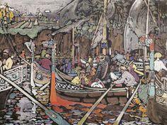 Le chant de la Volga - 1906~ Kandinsky