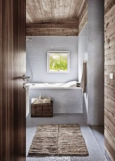 Grey Wooden Summer House in Denmark Grey Bathrooms, Beautiful Bathrooms, Modern Bathroom, Wood Bathroom, White Bathroom, Bathroom Ideas, Bad Inspiration, Bathroom Inspiration, Wooden Summer House