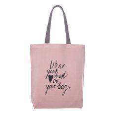 #canvas #tote #bag #klassdsign  #quote http://klassdsign.com/shop/canvas-bags/wear-your-heart-on-your-bag-pastel-pink/