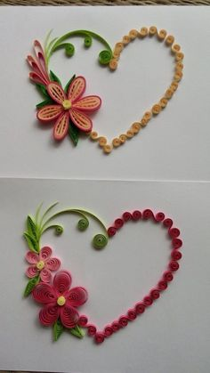 Mother's Day Paper Quilling Crafts Paper Flowers Ms Crafting Diy Center Embroidery Quilling ⋆ craftt Neli Quilling, Ideas Quilling, Quilling Images, Paper Quilling Cards, Paper Quilling Flowers, Paper Quilling Patterns, Paper Quilling Jewelry, Quilled Paper Art, Diy Paper