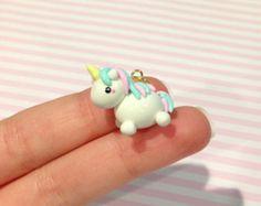 Pastel Unicorn Polymer Clay Charm