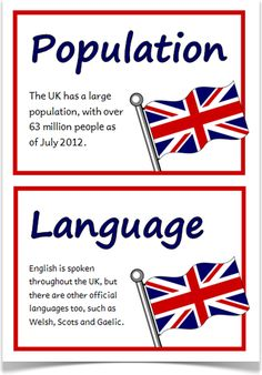 A set of 18 printable fact cards that give key, fun and interesting facts about the United Kingdom. Teachers also have the option to use this set as a vocabulary word wall as each fact card has a keyword heading related to the fact and topic for the UK. School Displays, Classroom Displays, Ks2 Classroom, Classroom Resources, Classroom Ideas, British Values, Vocabulary Word Walls, Primary Teaching, Thinking Day