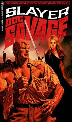 """DOC SAVAGE Fantasy Cover Gallery. New cover designs created by Keith """"Kez"""" Wilson. Original covers by James Bama and Bob Larkin."""