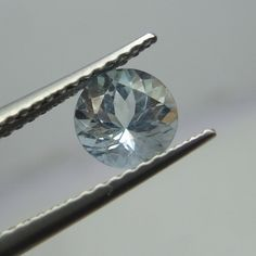 5.8 MM 0.7 Cts Natural Aquamarine Blue Color Round Shape Loose Faceted Stone  #NAAZGEMS