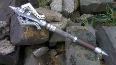 Steel Mace from the Elder Scrolls V: Skyrim. Learned how to do a two part mould on this one, i didn't much feel like carving out that pattern 8 times over. Halfway there with the steel weapon colle...