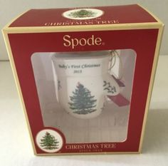 NIB-2015-Spode-Christmas-Tree-Babys-First-Christmas-Mitten-Ornament