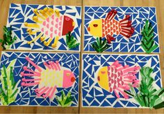 Mosaic fish-elementary art-Art with Mr. Giannetto blog