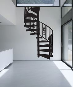 Vinyl Wall Decal Sticker Spiral Staircase #OS_MB606 | Stickerbrand wall art decals, wall graphics and wall murals.