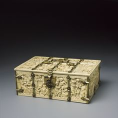 c. 1325. Coffret : Assaut du château d'Amour in the Cluny. Very pretty. I suspect out of ivory, although I did not see that in the description. Click through for detailed pictures, including the inside. Cl. 23840