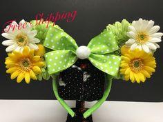 Tinkerbell Inspired Ear Headband by FloraFaunaAndME on Etsy