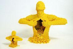 Own your own YELLOW! @Nathan Sawaya #art #LEGO #Yellow #Cuusoo #Sculpture #PBSCuriosity Photo Courtesy of www.brickartist.com