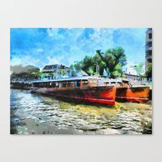 Costa del Tigre Canvas Print by Diretório Do Design - $85.00