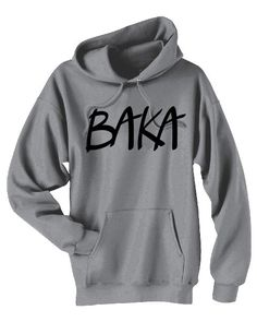 Baka Anime Hoodie japanese phrase sweatshirt by gesshokudesigns