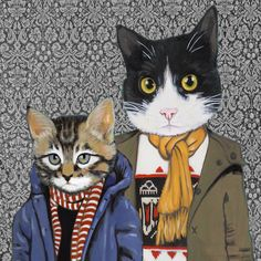 Available on etsy for 20 bucks...  http://www.etsy.com/listing/98914351/family-portrait-iii-cats-in-clothes-fine