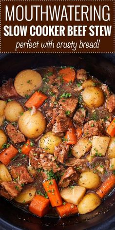 # Delicious beer and horseradish slow cooker beef stew . - # Delicious beer and horseradish slow cooker beef stew - Beef Soup Recipes, Beef Recipes For Dinner, Sauce Recipes, Beef Pieces Recipes, Stewing Beef Recipes, Beef Dinner Ideas, Crock Pot Soup Recipes, Healthy Recipes, Easy Recipes