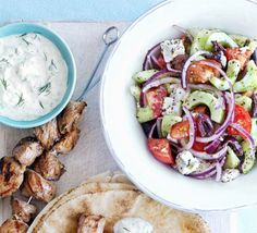A fresh and colourful salad that's great with grilled meats, or on its own as a main
