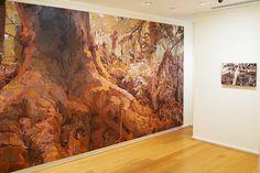 MARY TONKIN Two spots Australian galleries, Madre, Kalorama 2008 oil on linen 244 x 508 cm , Impasse, Kalorama 2009 oil on linen 41 x 66 cm