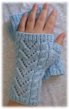 & Lace Wrist Warmers pattern by Knitwits Heaven Very cute and fairly easy to knit wrist warmers made to fit ladies small to medium sized hands.Very cute and fairly easy to knit wrist warmers made to fit ladies small to medium sized hands.