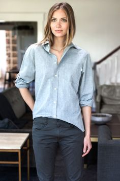 Emerson Fry Unisex Buttondown Shirt in Organic Chambray