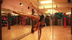 Visit www.tantratutorials.com for more great Online Pole Dance Lessons! The lovely Marion Crampe gives us a lesson on one of her signature moves, The Janeir...