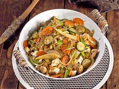 Wok de verduras salteadas