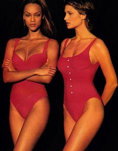a-state-of-bliss:  Elle US June 1993 - Tyra Banks & Manon Von Gerkan by Gilles Bensimon