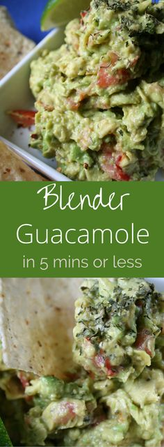 This guacamole is made fresh in just minutes using your blender. You will never buy this from the store again.