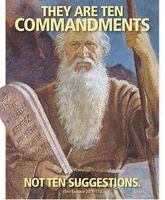 A Mormon (LDS) advertisement about the Ten Commandments. Cultura Judaica, Jw Humor, Mormon Humor, Lds Mormon, La Sainte Bible, Jesus Christus, Ten Commandments, Jehovah's Witnesses, Latter Day Saints