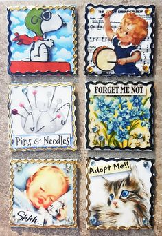 These inchies represent days or events that are celebrated in November: Aviation History Month; International Drum Month; 11/27 - Pins and Needles Day; 11/10 - Forget-Me-Not Day;  National Sleep Comfort Month; and National Adoption Awareness Month